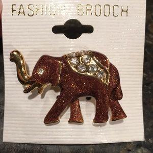 Elephant Fashion Brooch